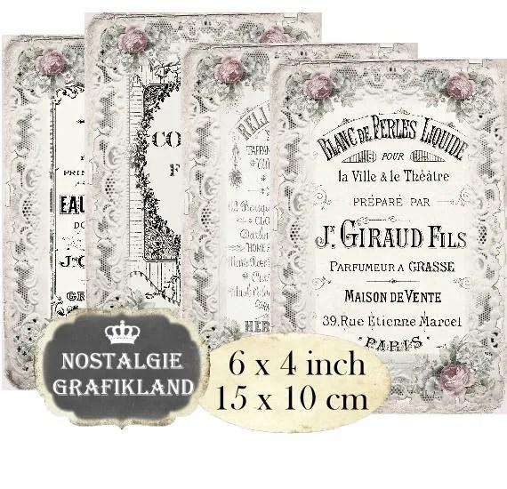 Printable Vintage French Perfume Labels Printable Bottle Label