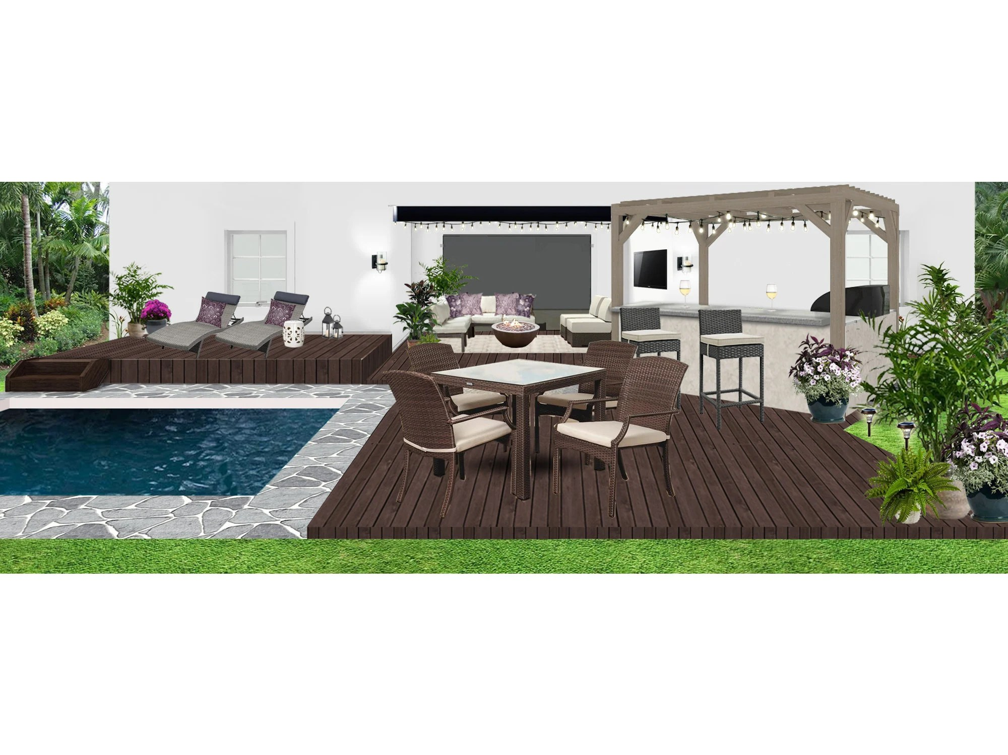 Patio Layout Designs Spring Sale Patio Design Backyard Render Transitional Lanai Patio Layout Patio Decorating