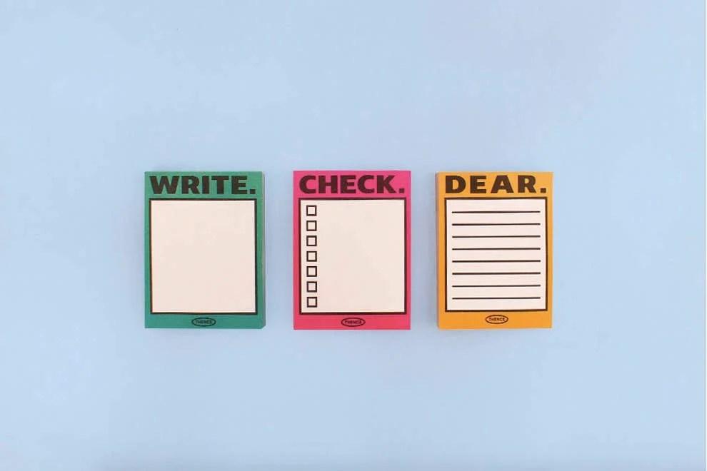 Checklist Sticky Notes / Hot Pink Notepads / Personalized Etsy