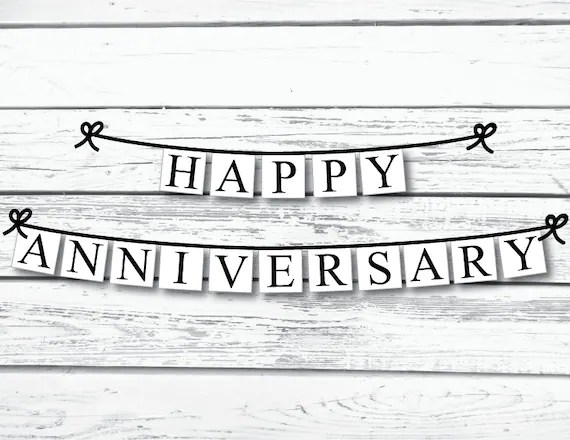 PRINTABLE happy anniversary banner printable party Etsy
