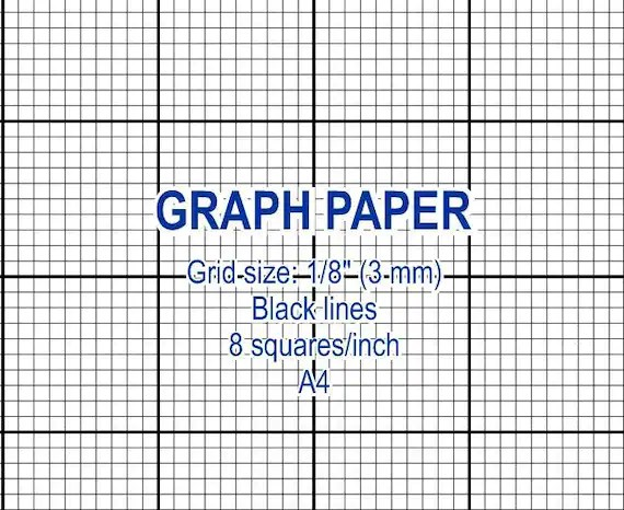 Graph paper, printable 3 mm grid, cross stitch design, 8 squares per - digital graph paper