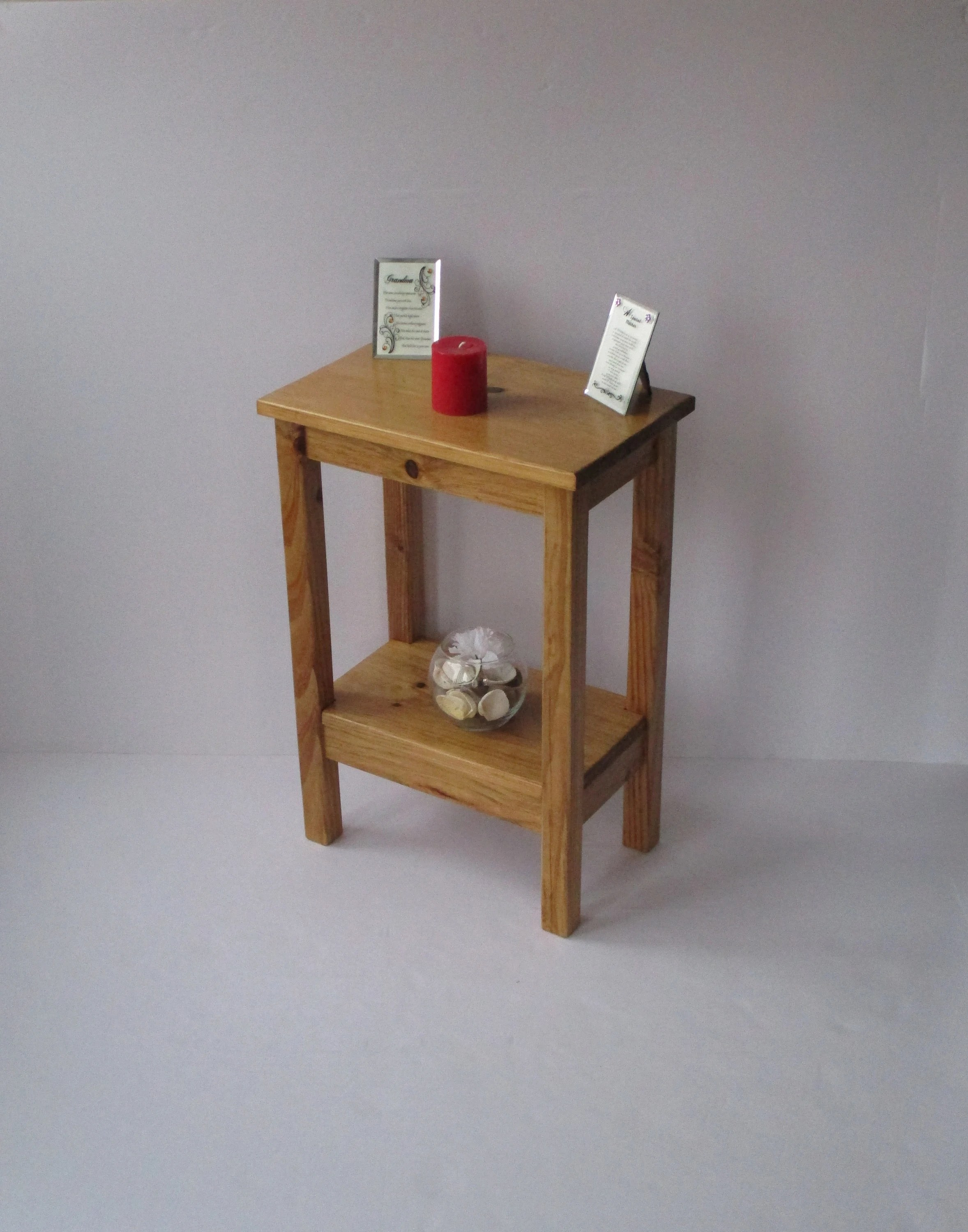Rustic Wood End Table Rustic End Table Small End Table Side Table Rustic Nightstand Bedside Table Golden Oak Stain