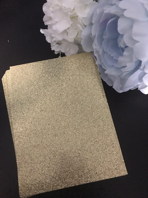 Gold Glitter Cardstock 25 5x7 Glitter Paper Etsy