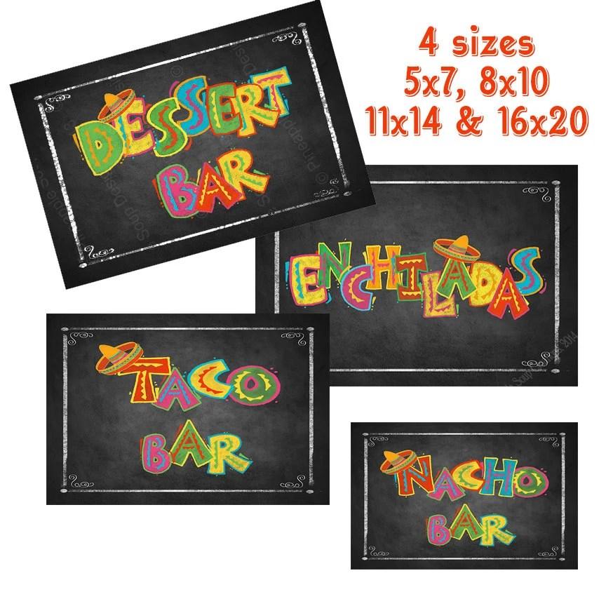 Printable Fiesta Bundle Pack of chalkboard signs for Graduation