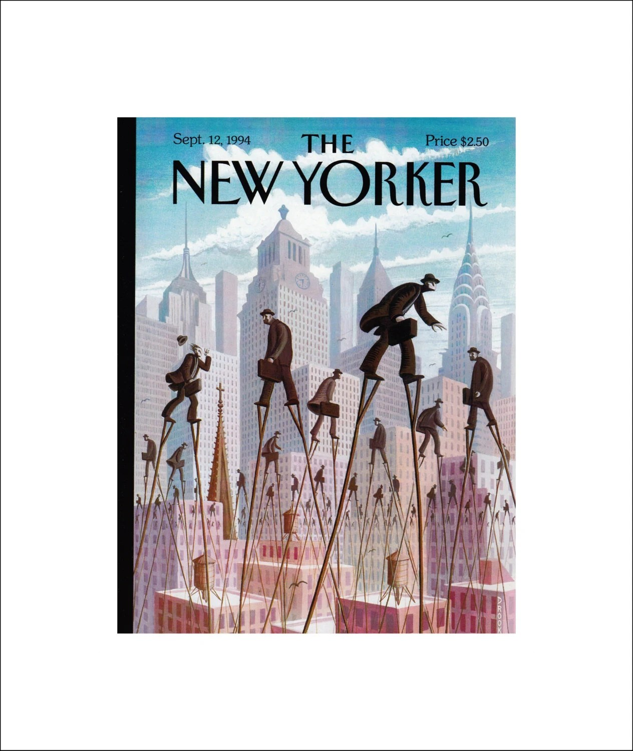 Art Of Eric Drooker Vintage The New Yorker Magazine Cover Poster Print Art 1994