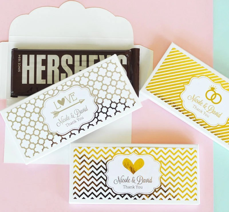 Personalized Candy Wrappers for Pink and Gold Wedding Bridal Etsy