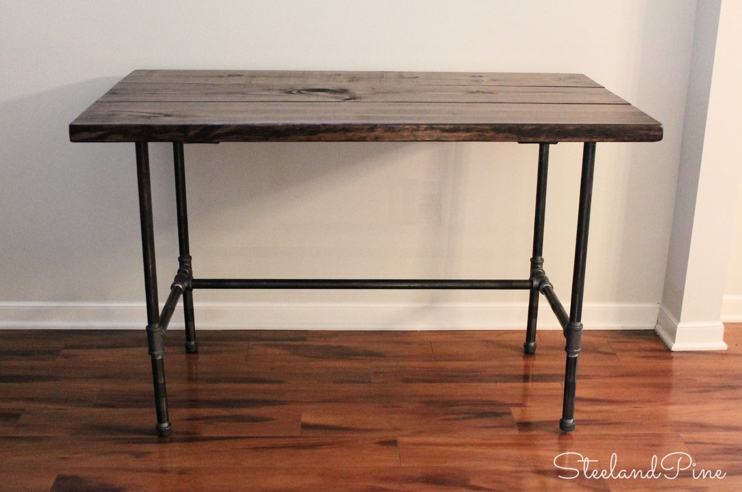 Long Wood Desk Steel And Wood Desk Long