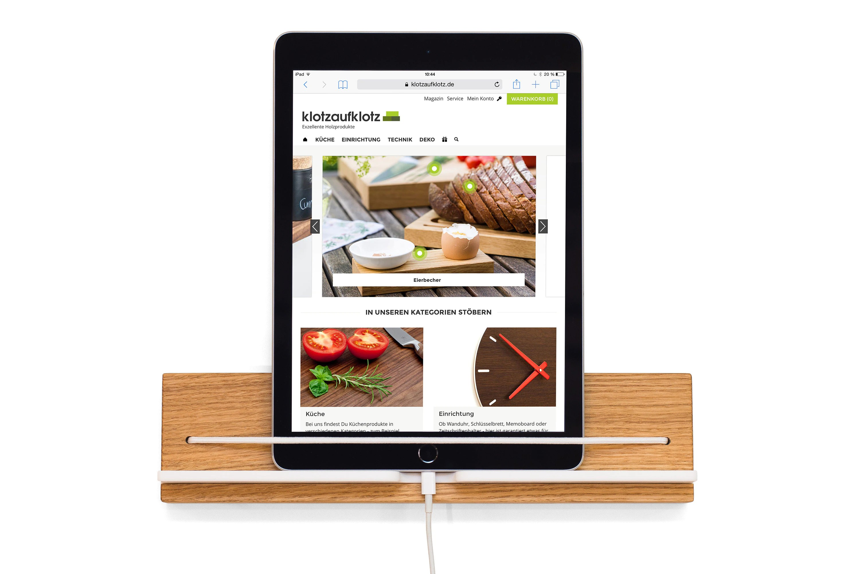 Tablet Küche Wall Mounted Tablet Holder Oak