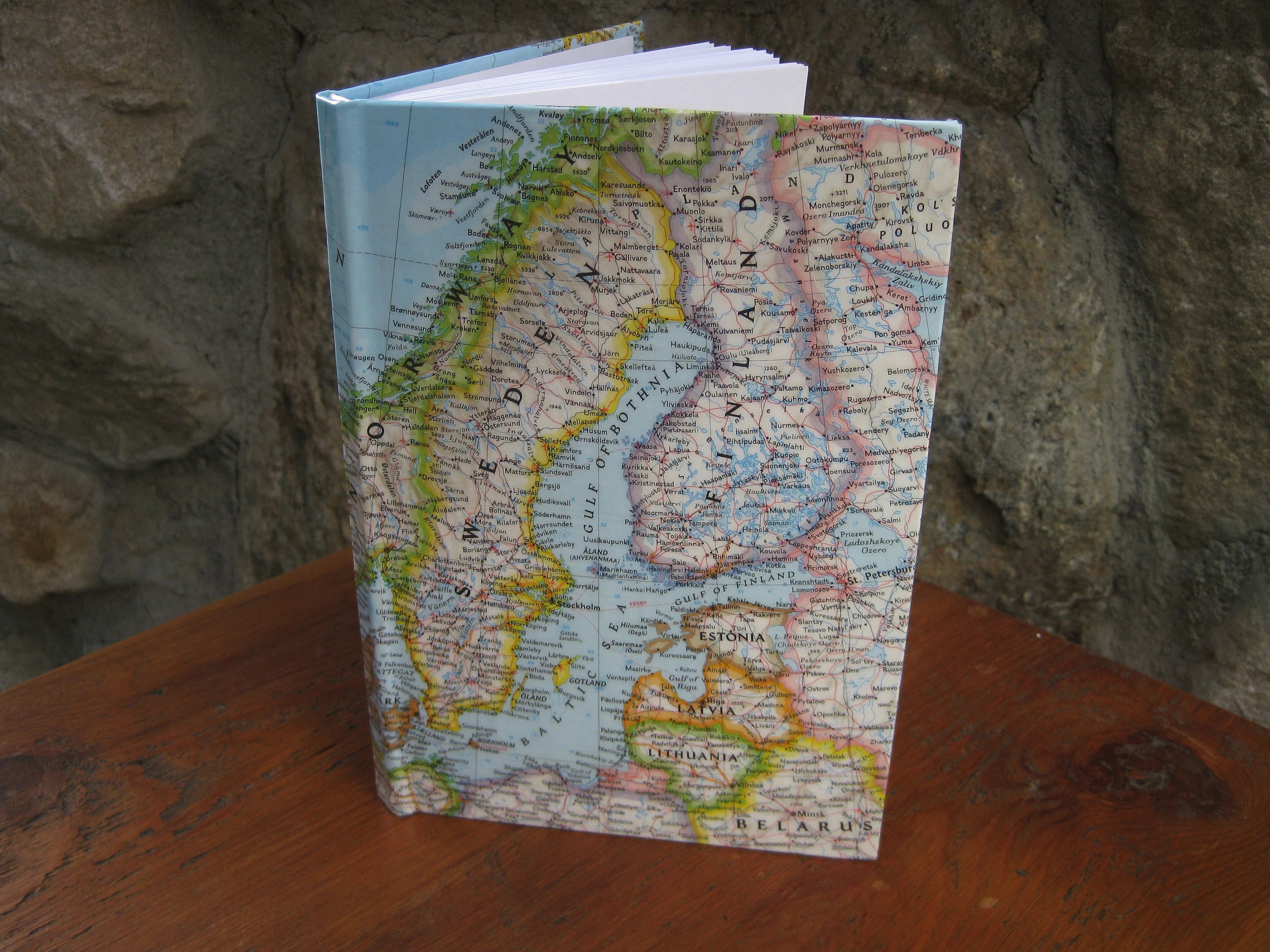 Blank Travel Journal with European Map Cover Lined Vacation Etsy