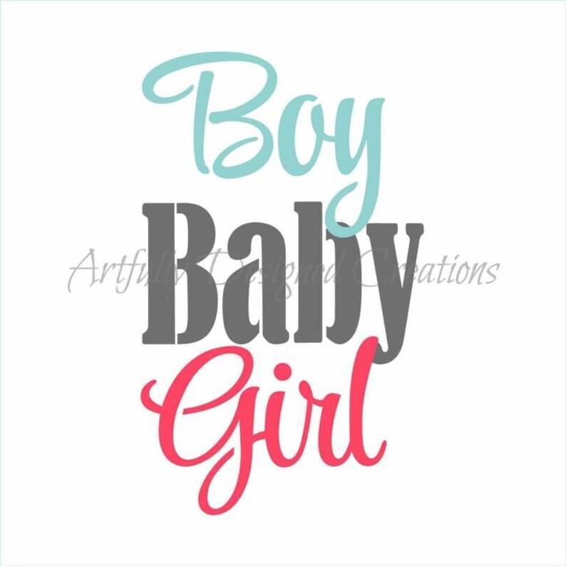 Baby Boy Girl Stencil Etsy