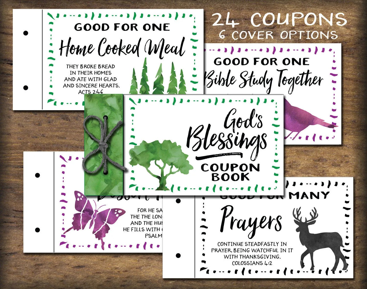Christian Coupon Book printable Bible verses Instant Etsy