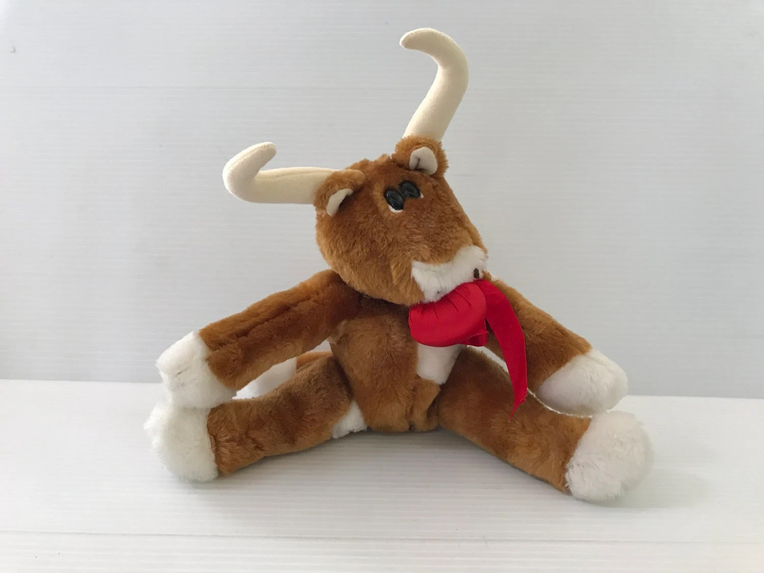 Kamar Vintage Stuffed Longhorn Vintage Plush Longhorn Kamar Stuffed Longhorn Vintage Plush Cow Vintage Stuffed Bull Retro Plush Cow Gift For Him