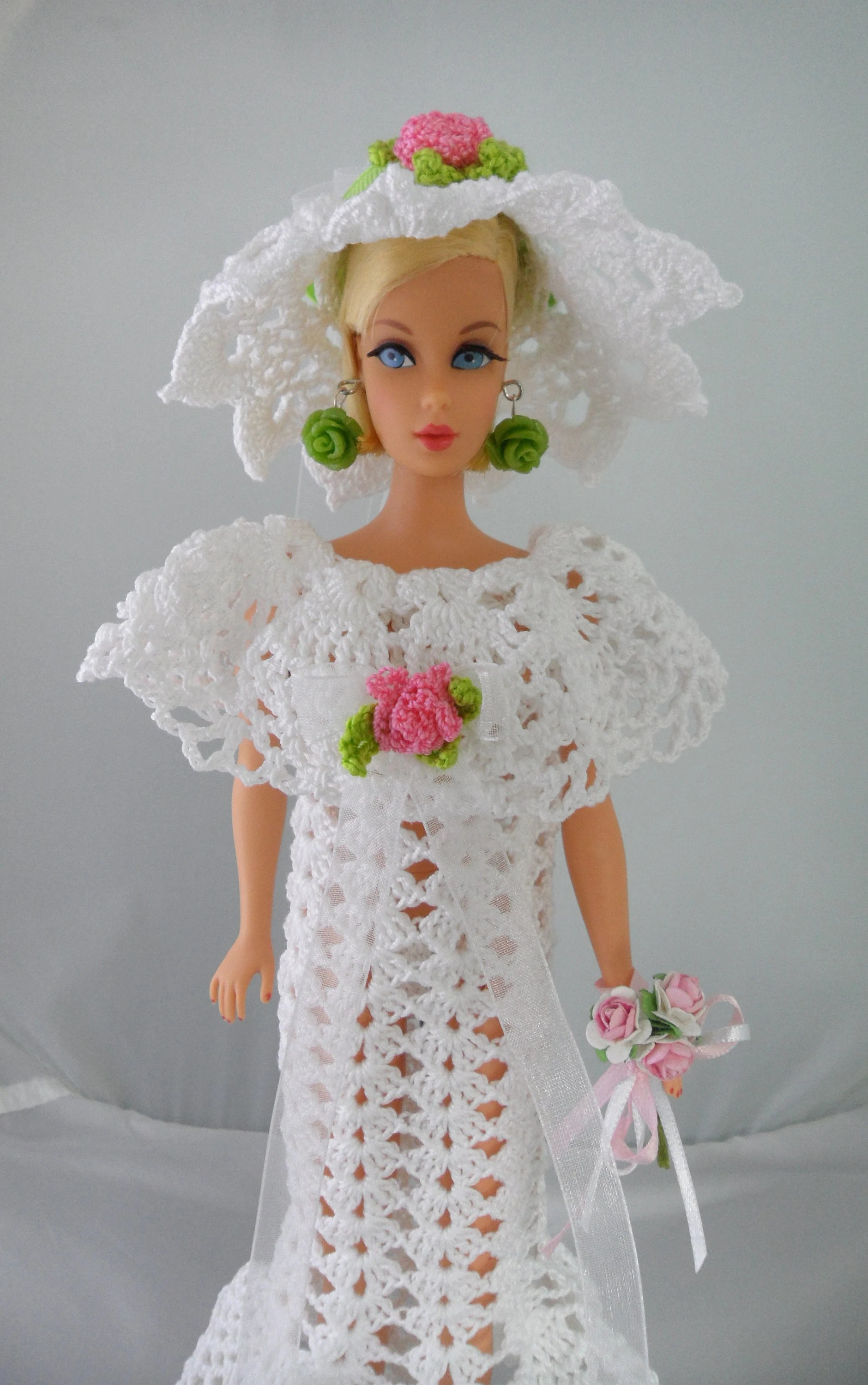 Barbie Badezimmer Set Barbie Bridal Gown Crochet Barbie Clothes Handmade 11 5