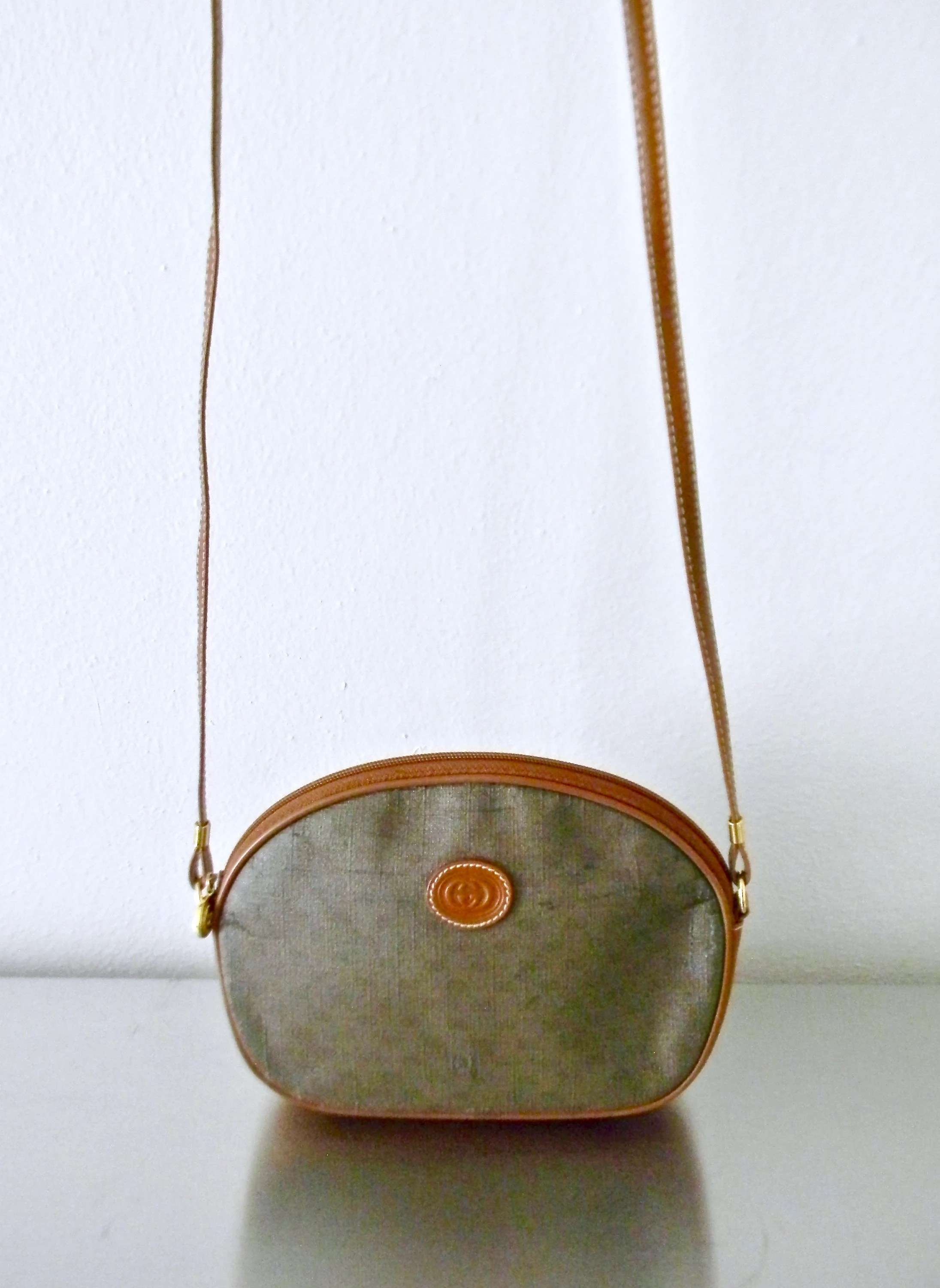 Etsy Vintage Gucci Vintage Gucci Gg Monogram Coated Canvas Small Crossbody Purse Coated Canvas And Leather Guccissima Vintage Handbag Festival Bag