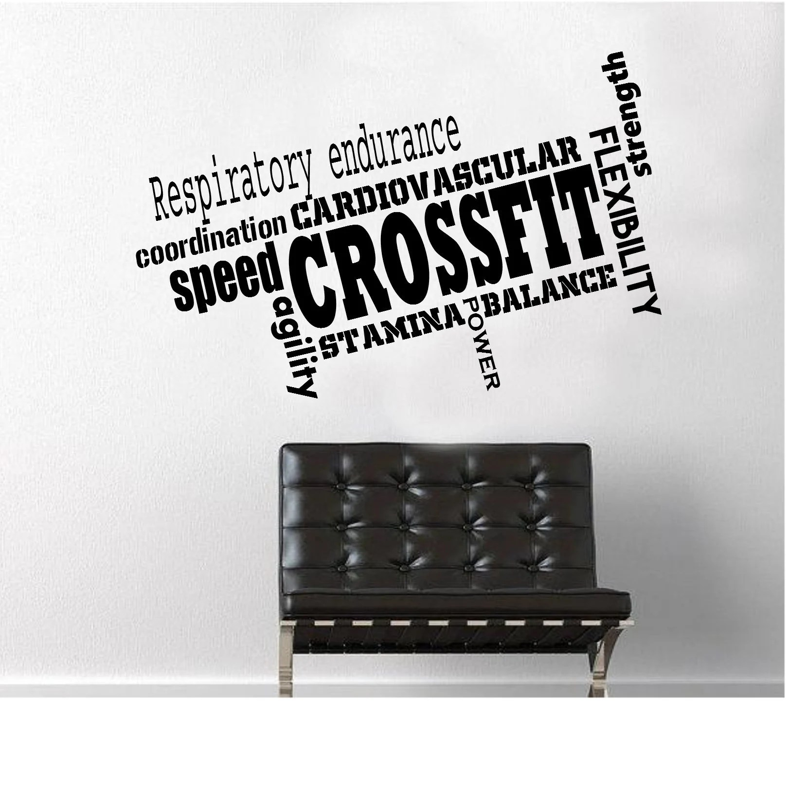 Sofa Workout Crossfit Decal Wall Decal Workout Decal Gym Decal Fitness Decal Crossfit Wall Decal