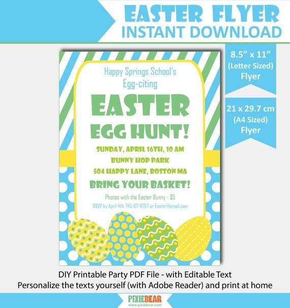 Easter Egg Hunt Flyer - Easter Flyer - Easter Party Flyer Template