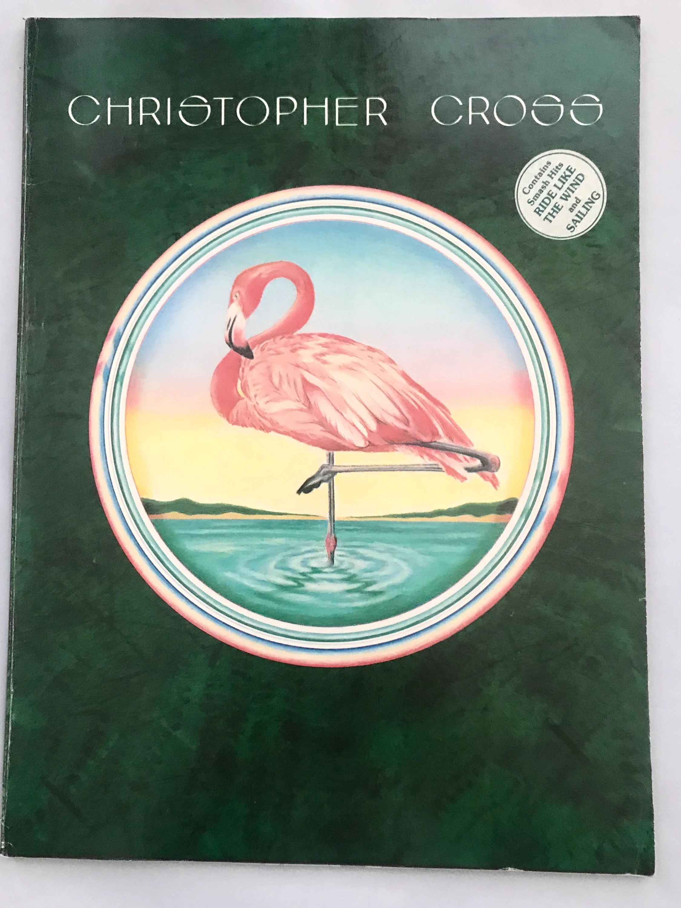 Cross Guitar Book Christopher Cross Songbook 1979 Music Book Sailing Ride Like The Wind Piano Vocals Guitar Tabs Photographs Vintage Sheet Music