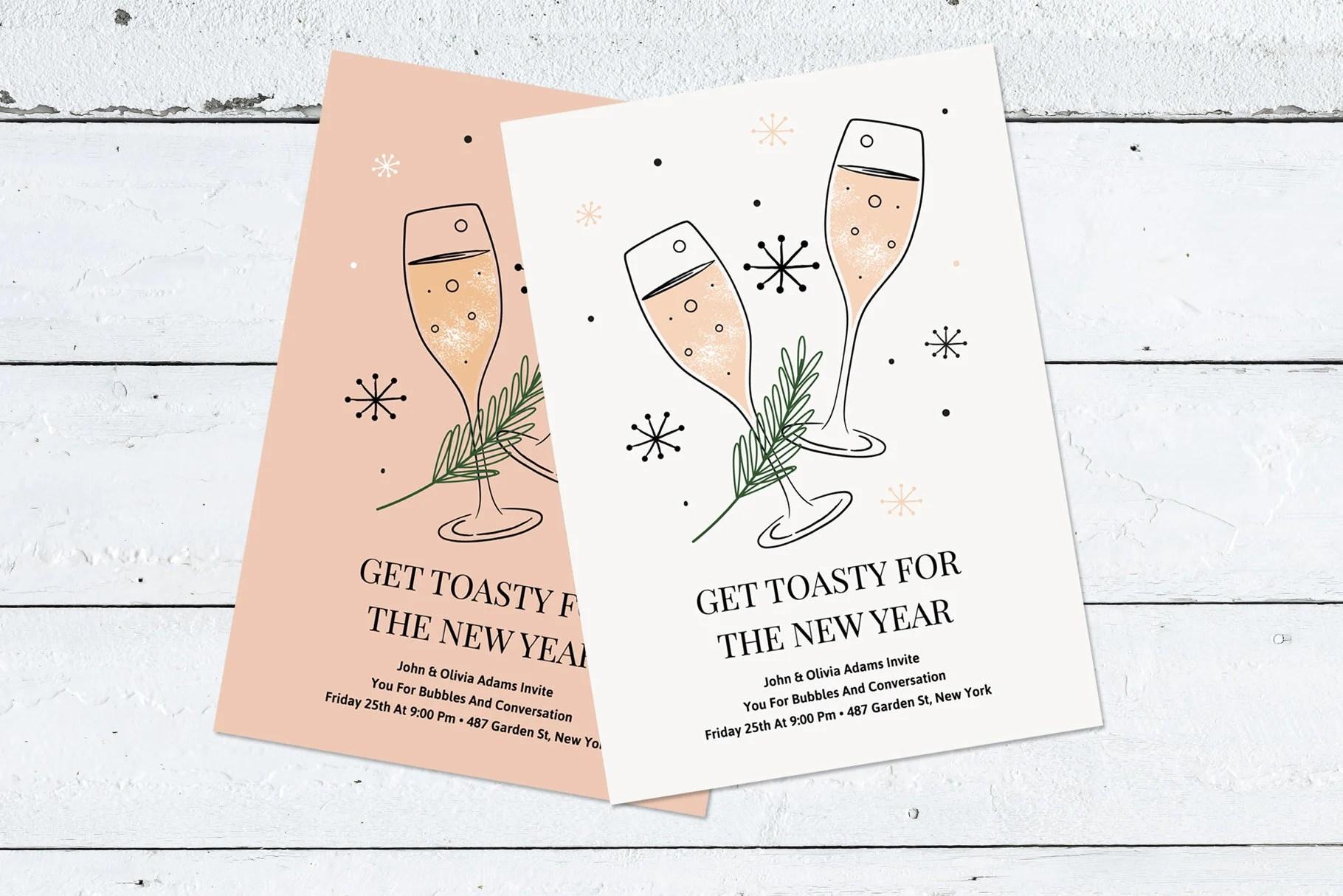 Editable New Year\u0027s Invitation Templates   Holiday Party Etsy