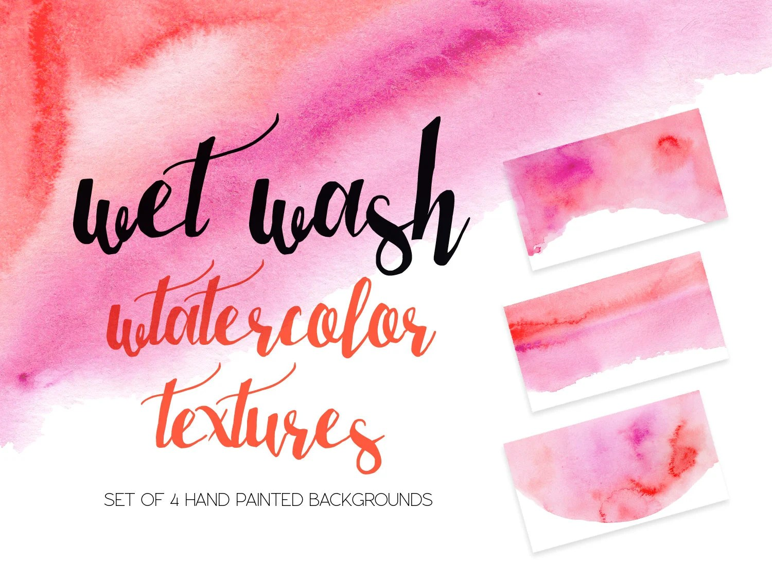 WASHY WATERCOLOR TEXTURES pink red watercolour background Etsy