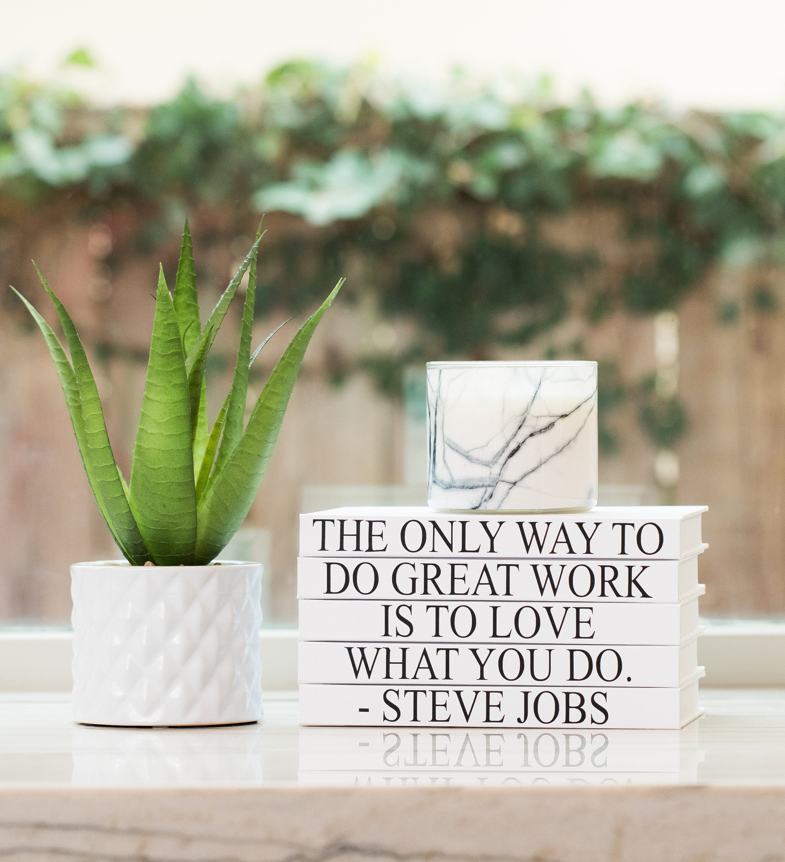 Home Decor Jobs The Only Way To Do Great Work Steve Jobs Quote Decorative 5 Book Set Valentine S Day Gift Bookshelf Design Inspirational Home Decor
