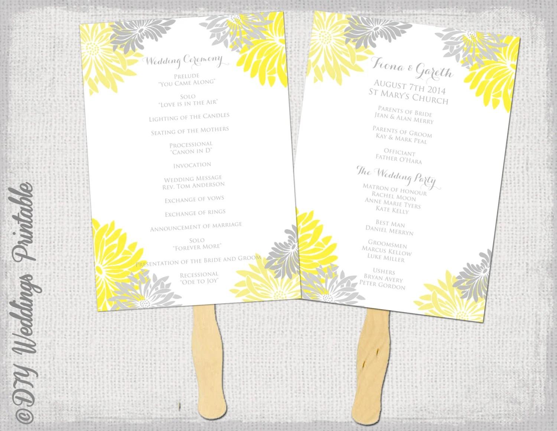 Wedding fan program template \
