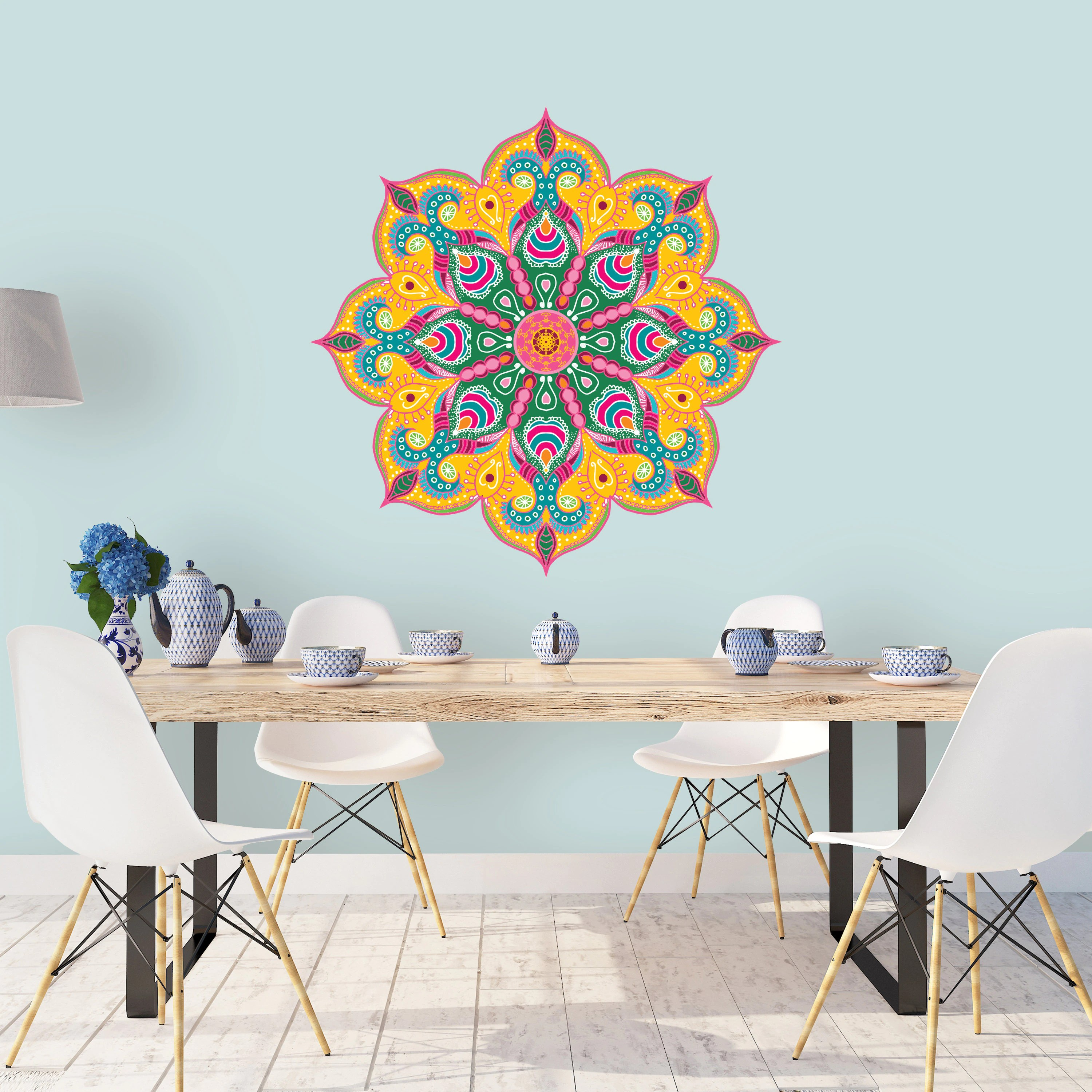 Pochoir Mandala Mural Boho Home Decor Yoga Studio Wall Art Art Mural Mandala Grand Mur Au Pochoir Pochoir Mandala Mandala Grand Pochoir Hippie Home Decor