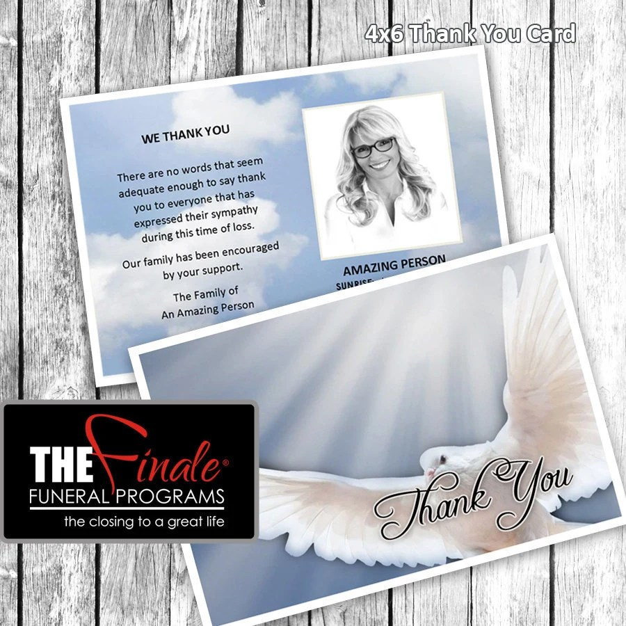 4x6 Thank You Card HEAVENLY DOVE BLUE Microsoft Word Etsy