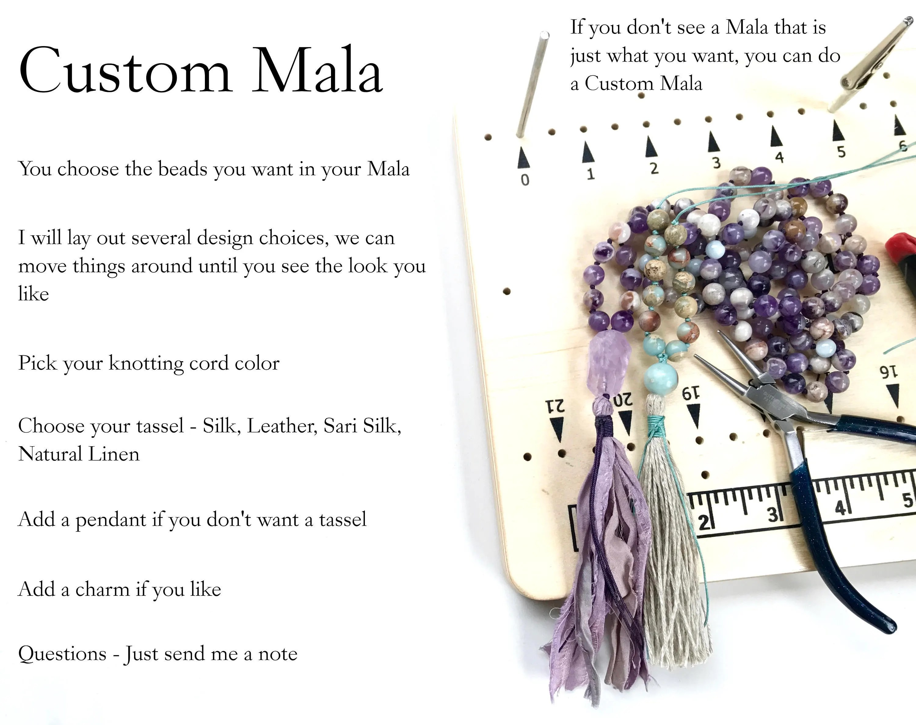 Mala Design Custom Mala Beads Design Your Own Mala Necklace Have A