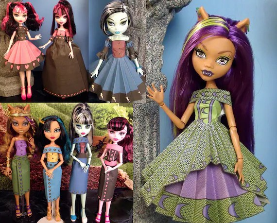 Diana Printable Doll Clothes Makes great Monster High Etsy