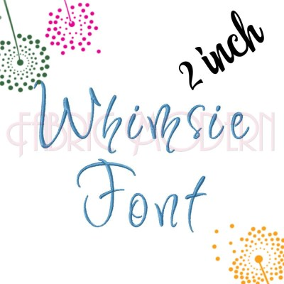 Whimsical Calligraphy SCRIPT FONT Embroidery Design 2 inch ...
