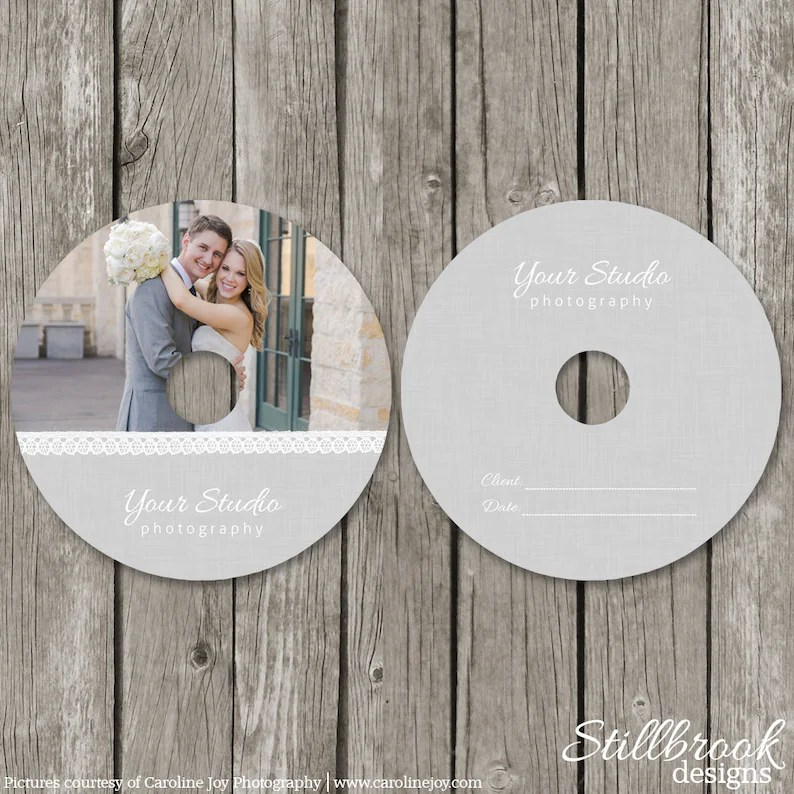 CD/DVD Label Templates Wedding Photography CD Label Cover Etsy