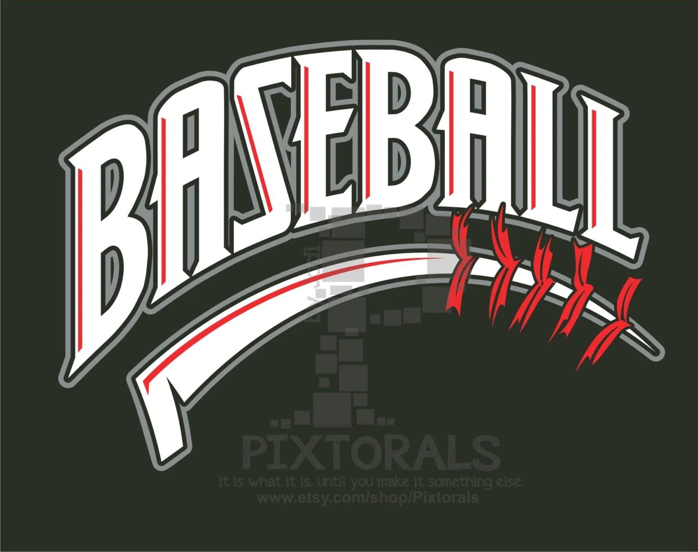 Baseball logo JPG PNG and EPS formats as Vector Baseball Etsy