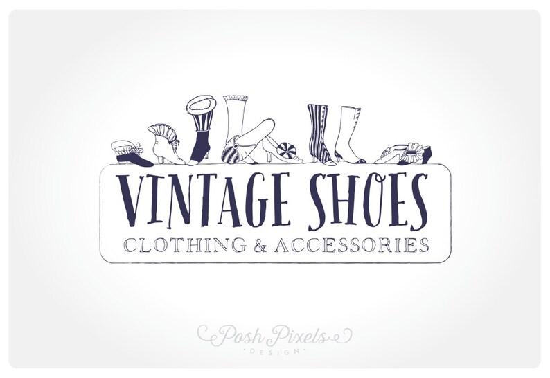 Logo Design Premade Shoe Logo Vintage Logo Clothing Logo Etsy