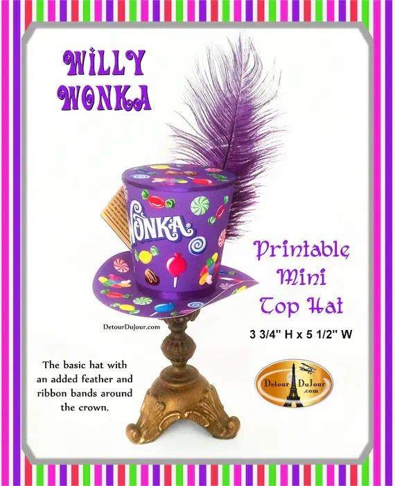 Willy Wonka Halloween Costume Top Hat Willy Wonka Top Hat Etsy