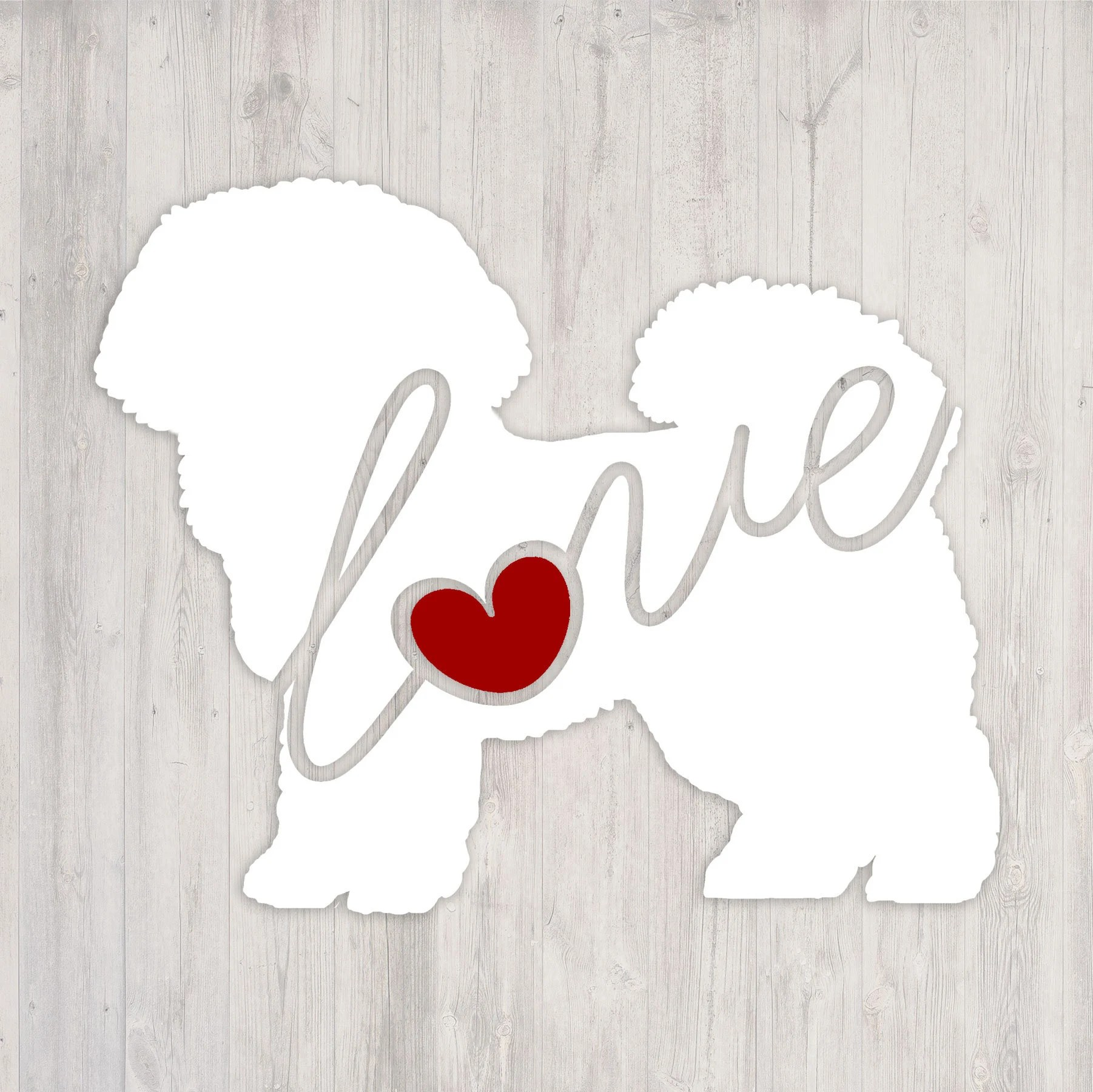 Frise Sticker Bichon Frise Love A Car Window Vinyl Decal Laptop Sticker Dog Breed Decals Dog Stickers Cooler Decal Gift For Dog Lover