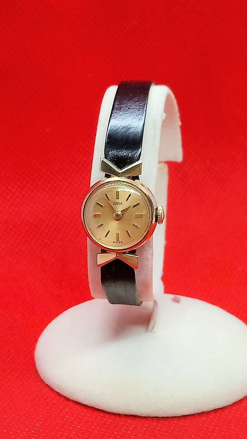 Rolex Ladies Watches 9k Gold Womens Rolex Tudor Watch Authentic Rolex Ladies Dress Watch Vintage Rolex Watch Gold Rolex