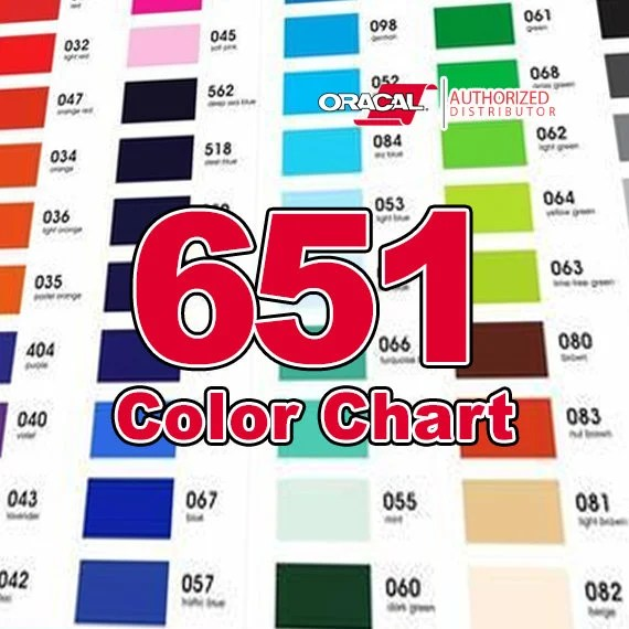 COLOR CHART only / Oracal 651 Etsy