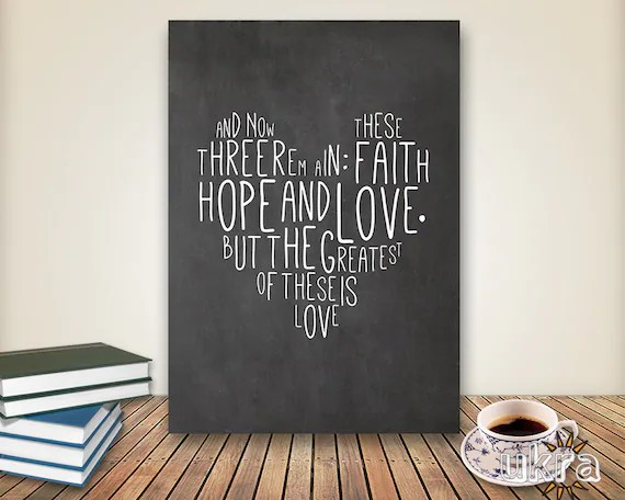 Chalkboard Art Bible Verse Wall Art,Printable Scripture Print