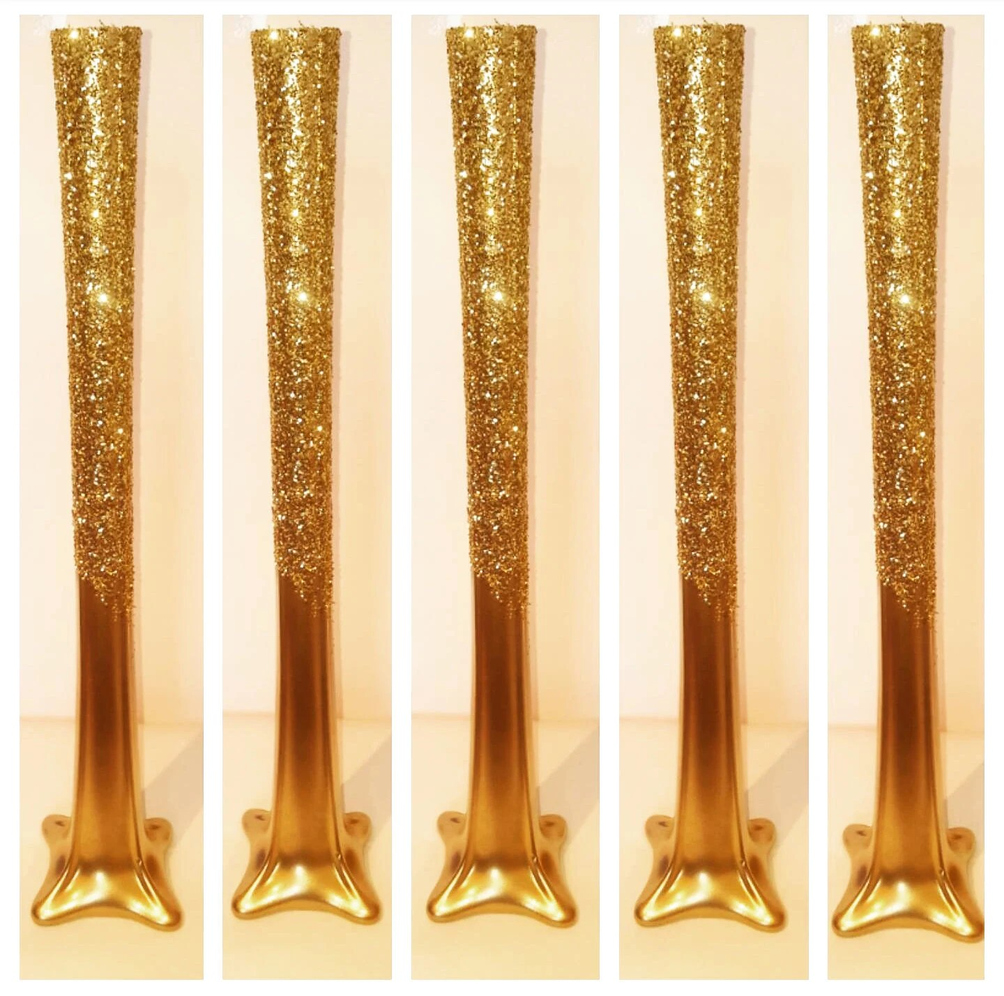 Vase Gold Set Of 5 20