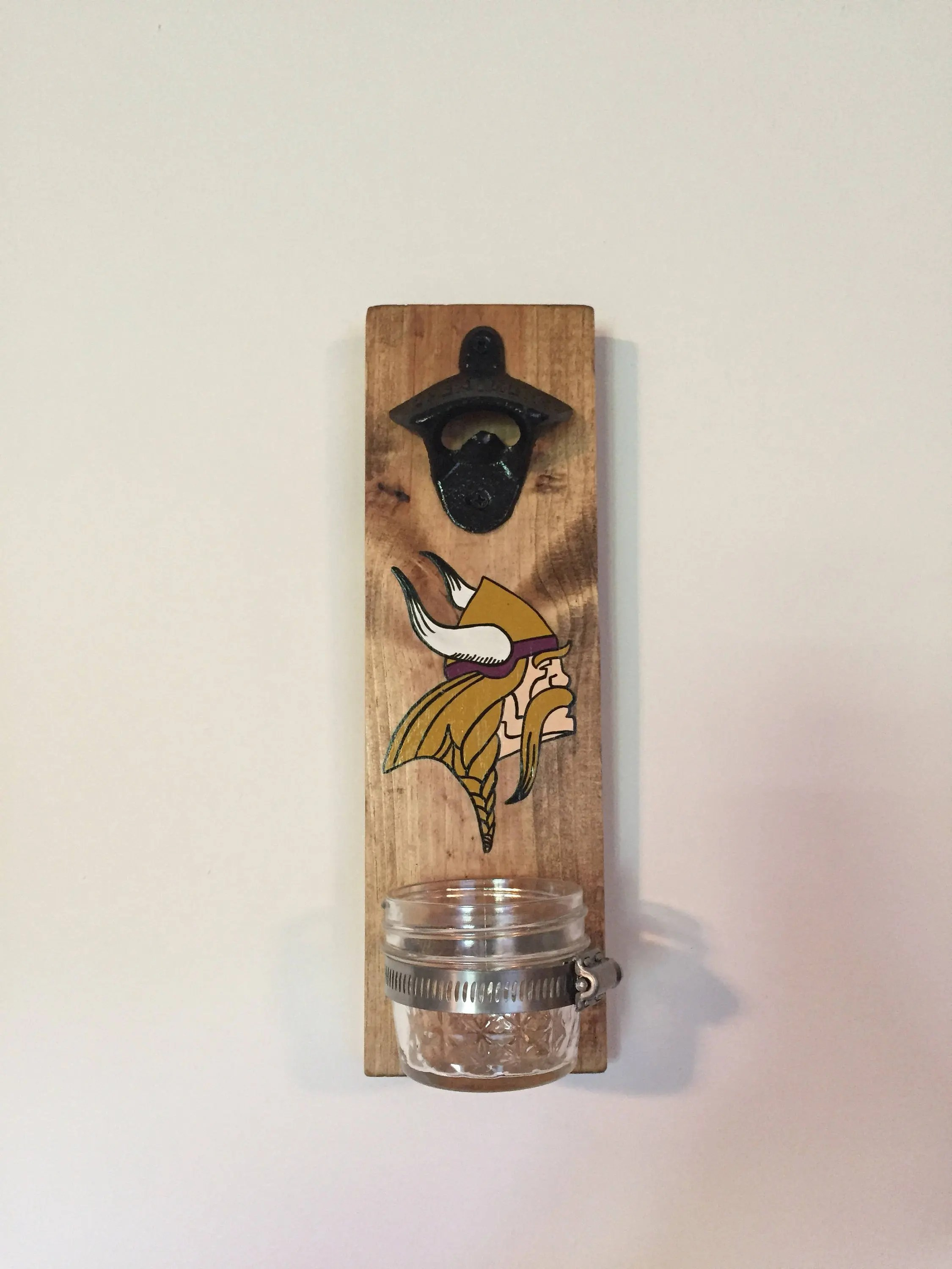 Wall Mounted Beer Opener And Catcher Sports Team Wall Mounted Bottle Opener With Cap Catcher Etsy