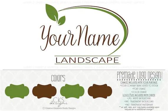 Premade Lawn Care Logo Landscaping Logo Landscape Logo Lawn Etsy