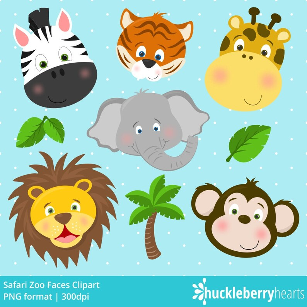 Safari Zoo Animals Clipart Zoo Animals Zoo Clipart Etsy