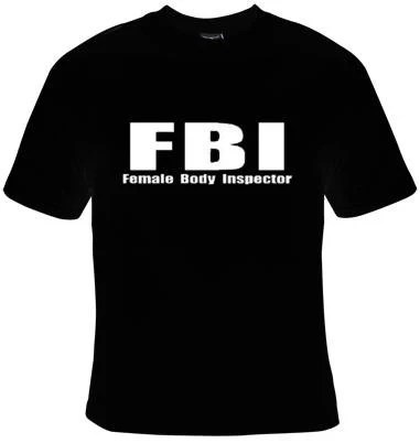 FBI female body inspector f b i UNIQUE Cool Funny Humorous Etsy