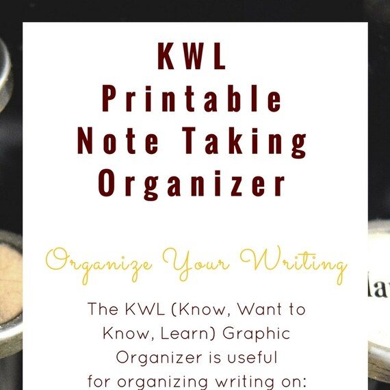 KWL Chart Graphic Organizer Etsykwl chart template for middle school ...