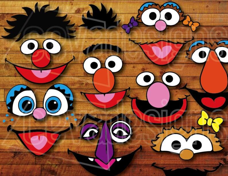 Sesame Street Birthday Party Decoration 12 Printable DIY Etsy