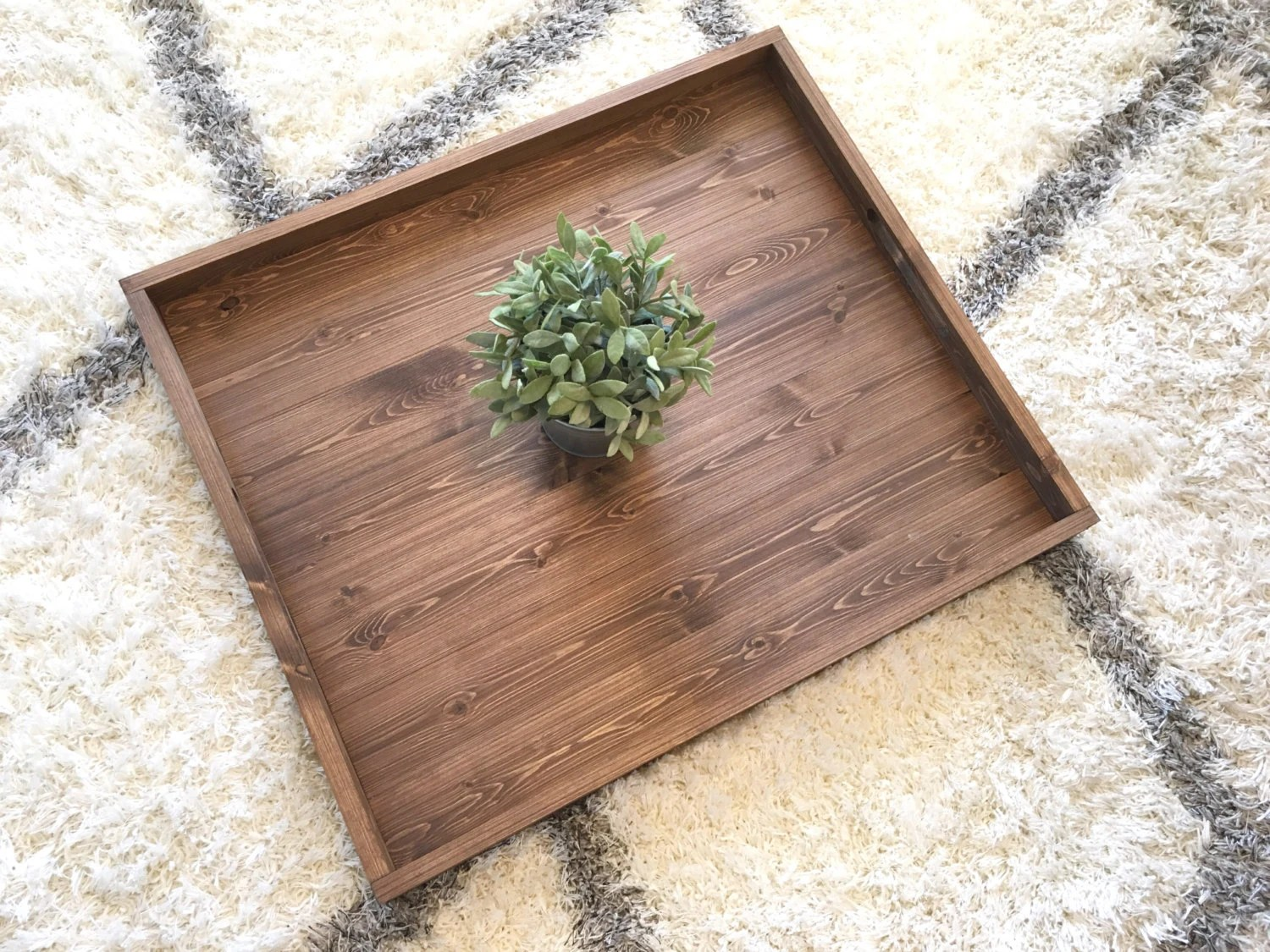 Farmhouse Coffee Table Etsy Rustic Wooden Ottoman Tray Ottoman Tray Wooden Tray Rustic