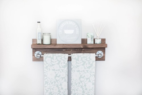 Medium Of Industrial Bathroom Shelf