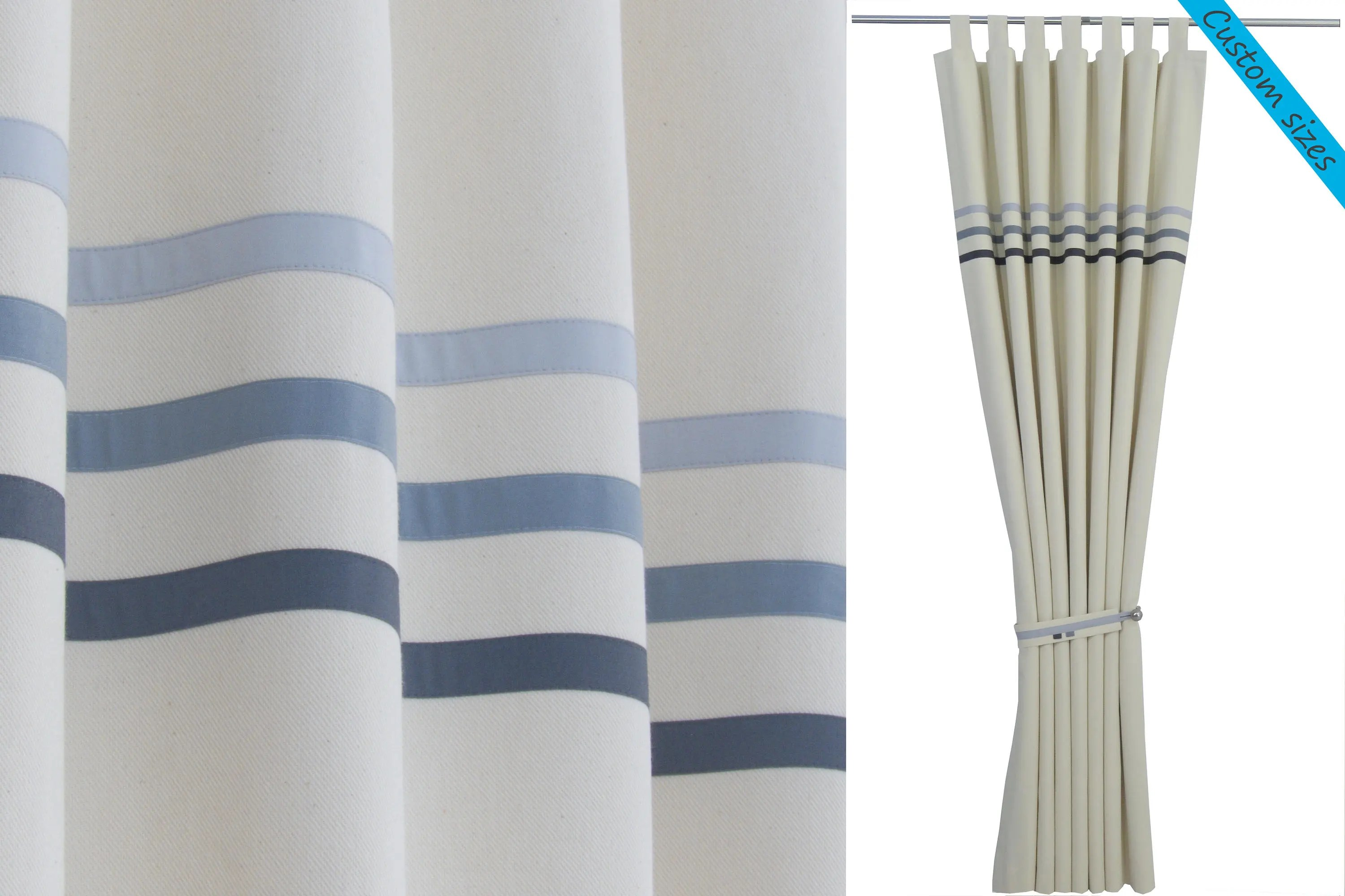 Baby Blue Blackout Curtains Baby Blue Curtains Bedroom Curtains Nursery Curtains Etsy