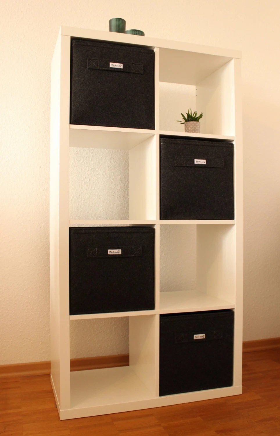 Ikea Kallax Dark Grey Felt Boxes Fit Into Ikea Expedit And Kallax Felt Storage Basket For A Shelves Custom Made Felt Storage Boxes