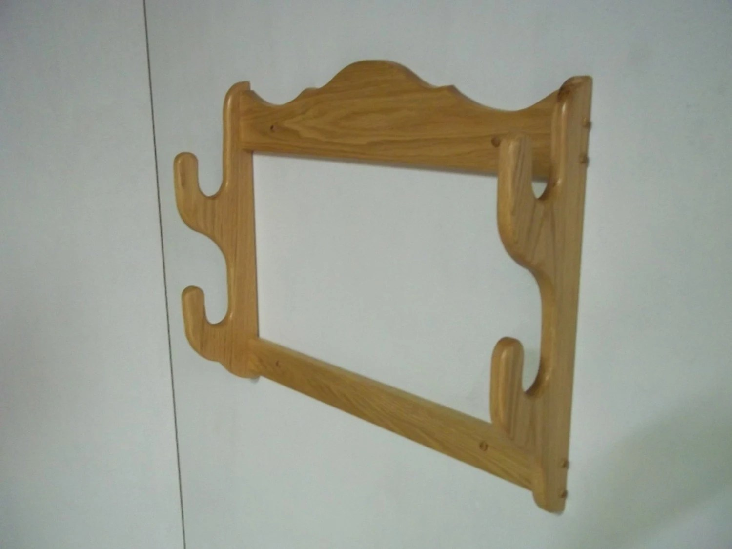 2 Gun Rack Wall Mount Gun Display Rack Red Oak With Etsy